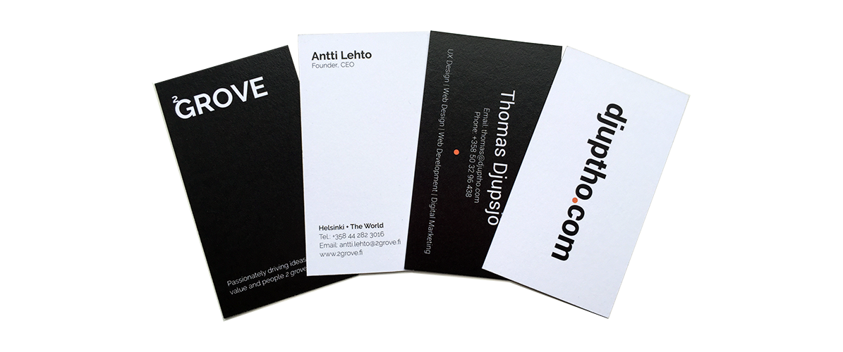 Business Card Design | Djuptho Design