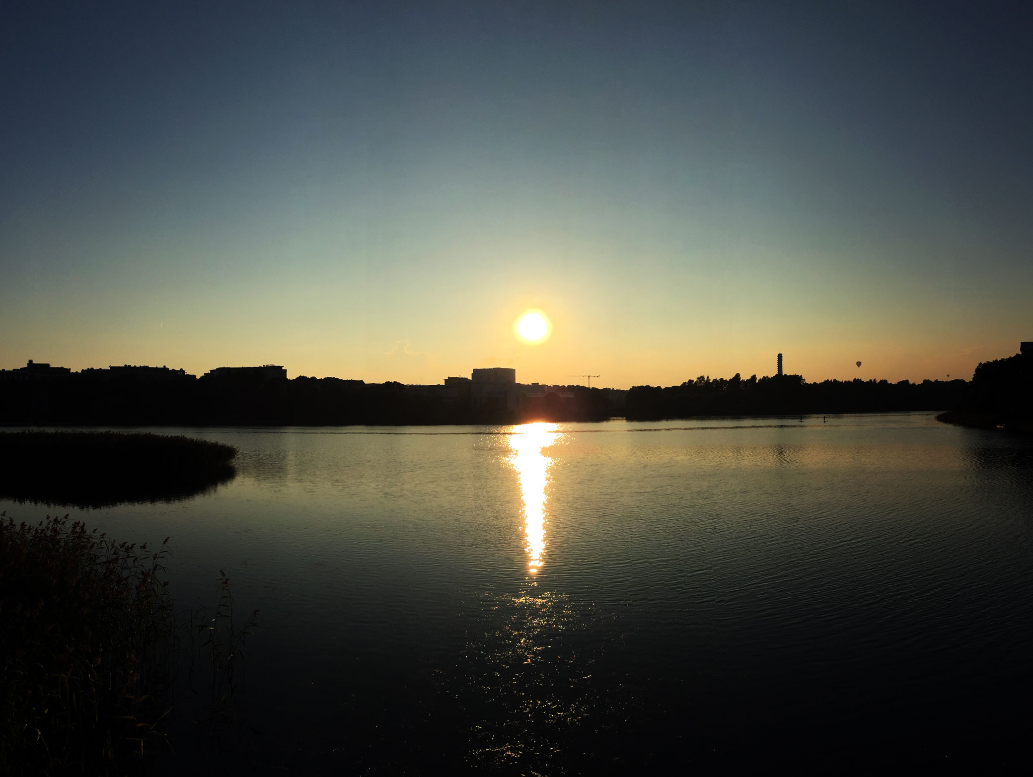 Sunset at Töölönlahti